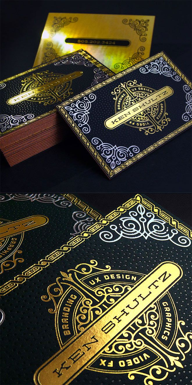 Showcase Of Creative Print Designs With Hot Foil Stamping Foil Business Cards Foil Stamping Design Hot Foil Stamping