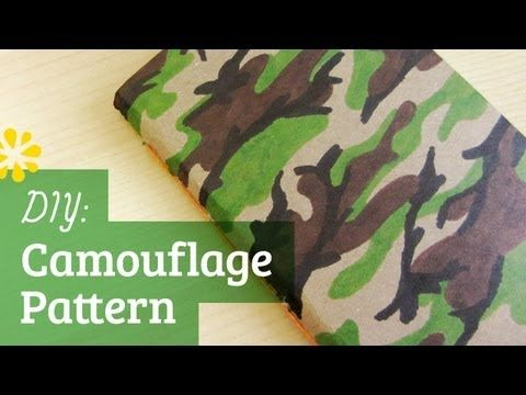 Tutorial On How To Make A Camouflage Pattern Camo Crafts