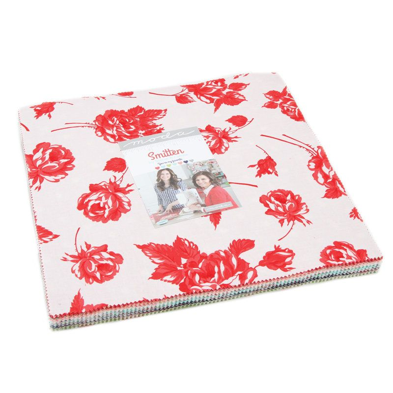 10 of Each 4 x 4 Inch Navy and Red with Co-ordinating Squares 40