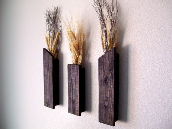 Rustic Vases Wall Vases Flower Vase Wall Sconce Floral Decor Home ...