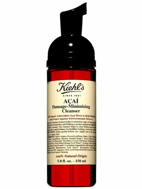 Style: Fashion Trends, Beauty Tips, Hairstyles & Celebrity Style News Kiehl's Acai Damage-Minimizing CleanserThis 100% organic face wash promises to wipe away not only dirt and makeup, but also the first signs of aging. How, you ask? The gentle sudsy formula treats skin with aça í extract -- the Brazilian super-berry is one of nature's most powerful topical antioxidants -- as it cleanses.     Get it now: Kiehl's Aça í Damage-Minimizing Cleanser, $24.50