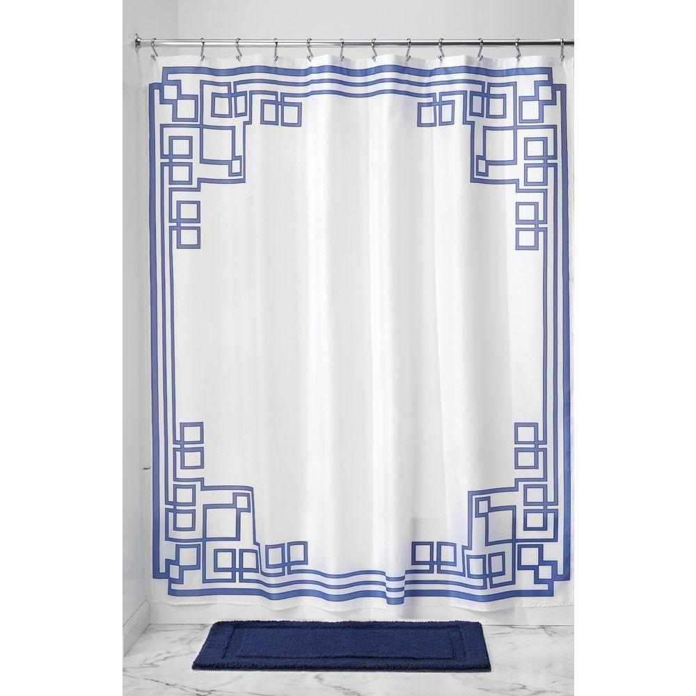 Greek Key Shower Curtain Fabric Shower Curtains Stylish Shower