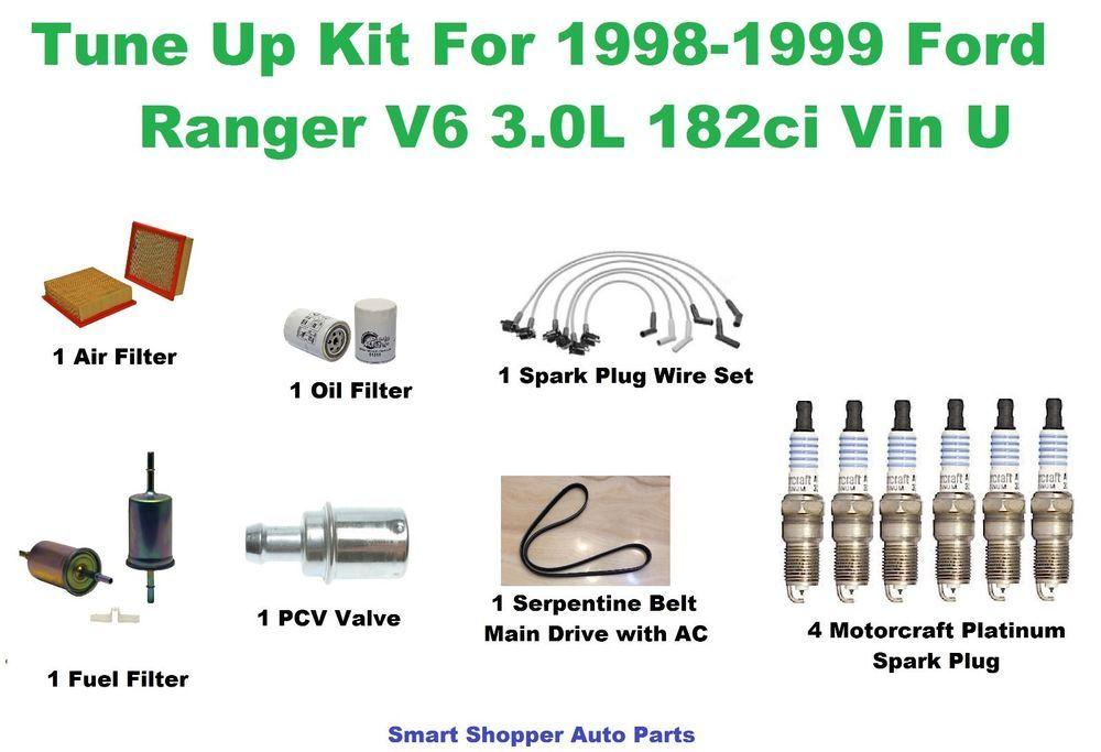tune up kit for 98 99 ford ranger spark plug wire set air oil fuel rh pinterest com 1987 Ford Ranger Wiring Diagram 1987 Ford Ranger Wiring Diagram