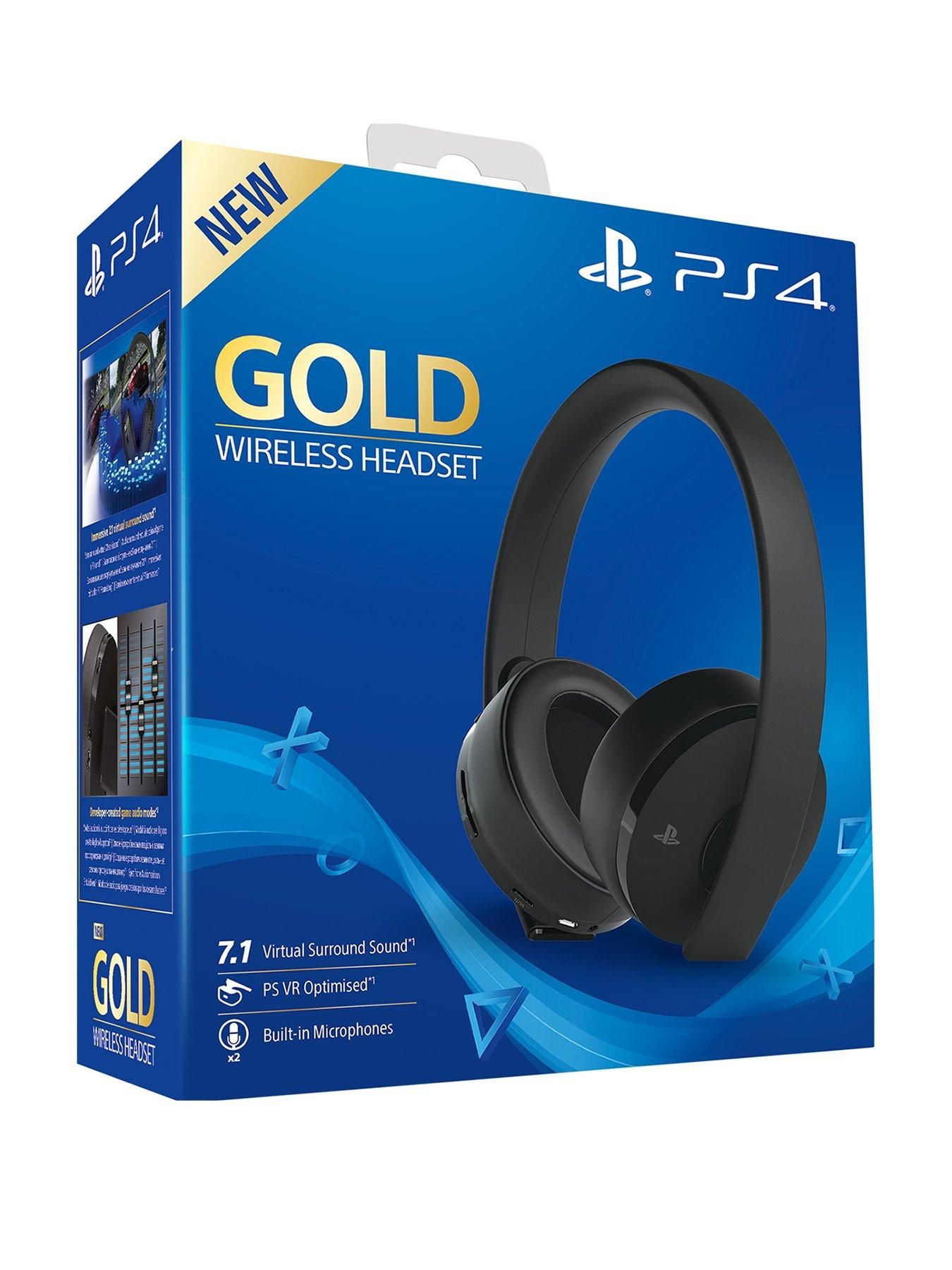 Official Playstation 4 Gold Wireless Headset Ps4 Wireless Headset Wireless Headset Headset