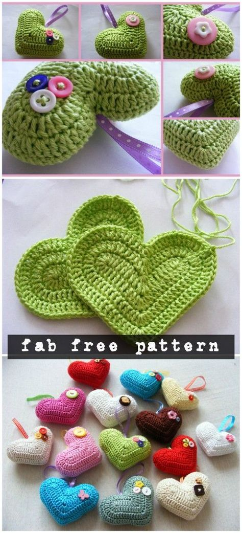 Crochet 3D Heart Amigurumi Free Patterns | # Heart ✰ Herz ✰ Cuore ...
