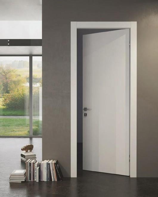 SARTODOORS Planum 0010 Interior Door Slab White Silk NO Pre Drilled