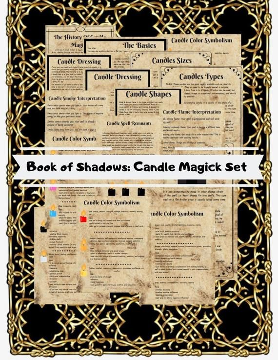 Candle Magick Set For Book of Shadows