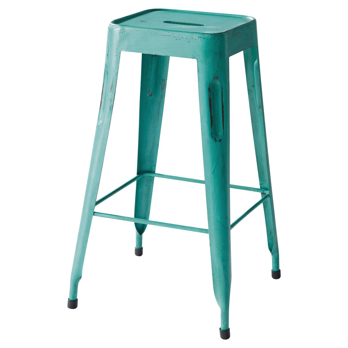 tabouret de bar indus turquoise jim nouvelle maison. Black Bedroom Furniture Sets. Home Design Ideas