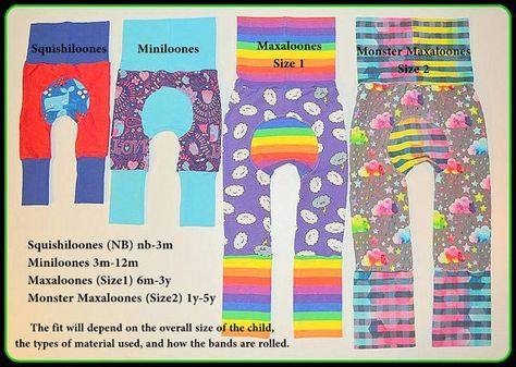 Maxaloones SEWING PATTERN PDF Nb-5T grow with me pants | Pinterest