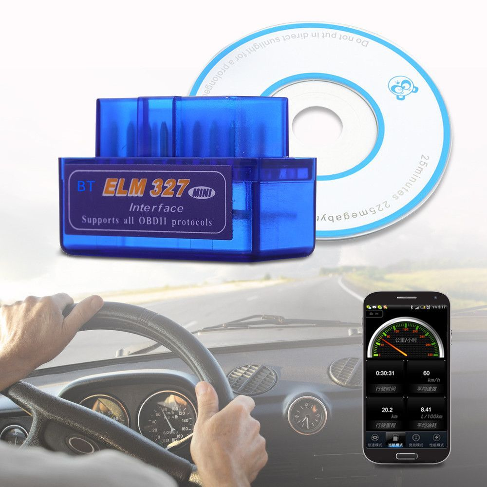 Mini Auto Scanner Bluetooth OBD2 For Android Torque OBDII ELM327 Code  Readers Diagnostic Tool Vehicles Car