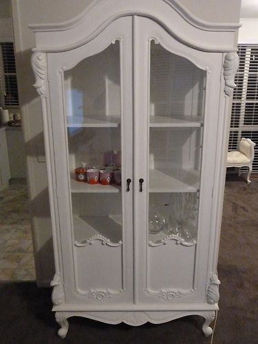Brand New French Provincial Shabby Chic Cabinet Buffet Showcase ...
