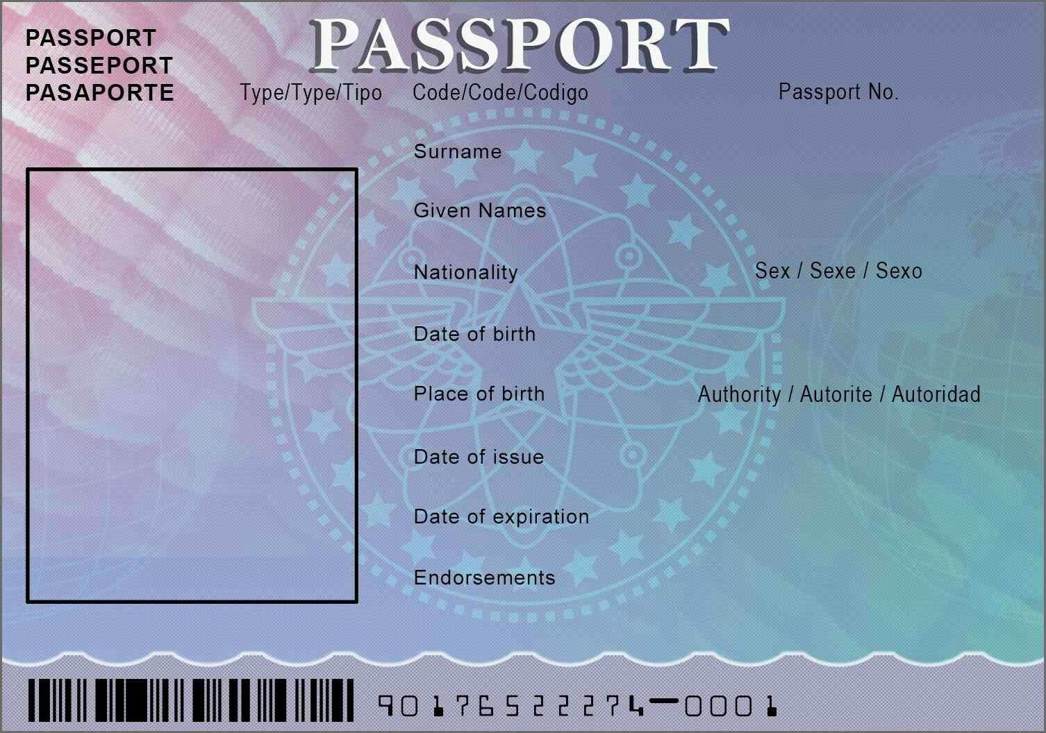 Passport template 4 Passport template, Birth certificate