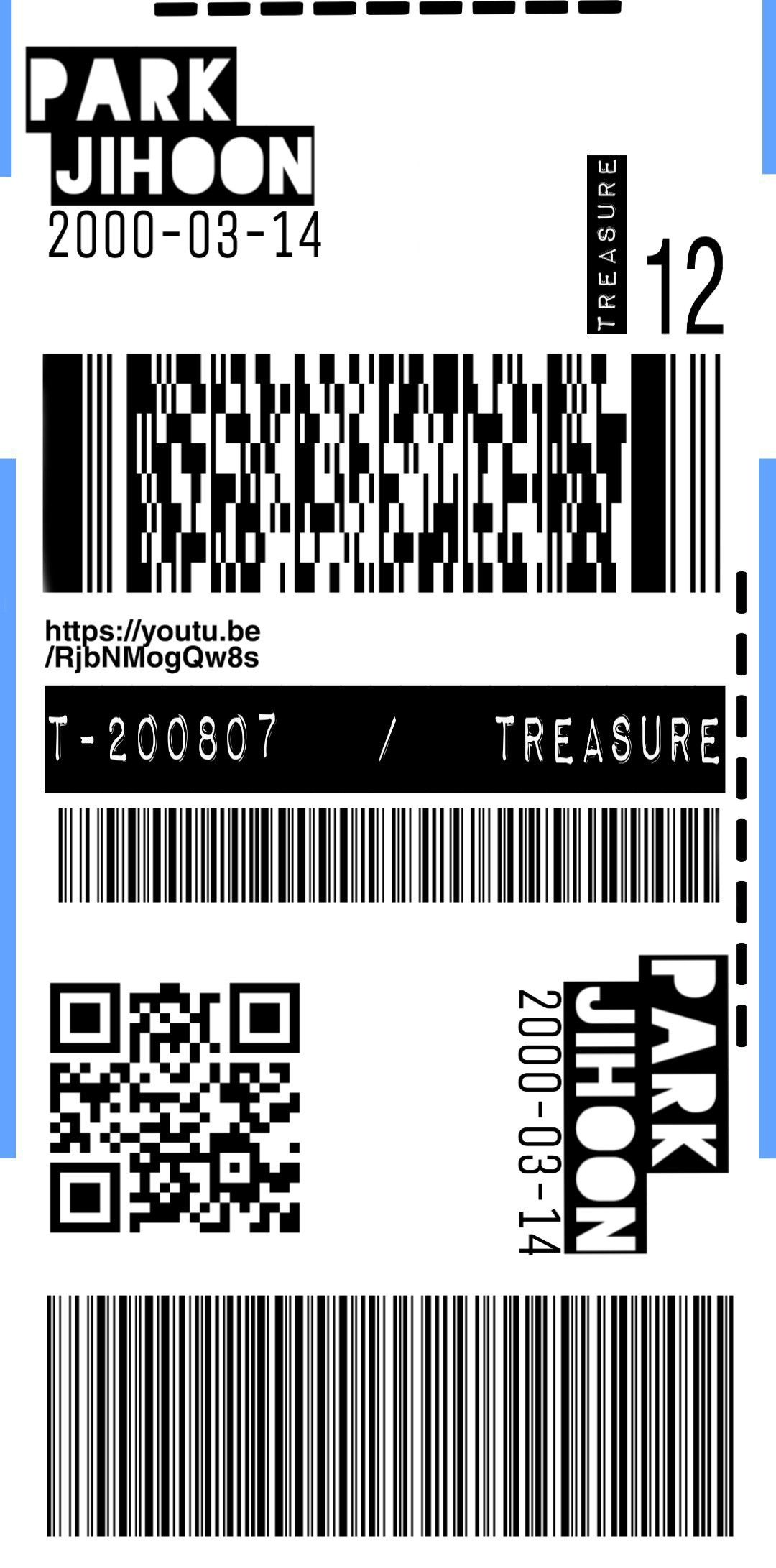 Treasure Tickets Wallpaper Phone Case Stiker