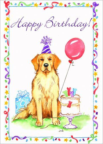 Image Result For Golden Retriever Birthday Card Happy Birthday