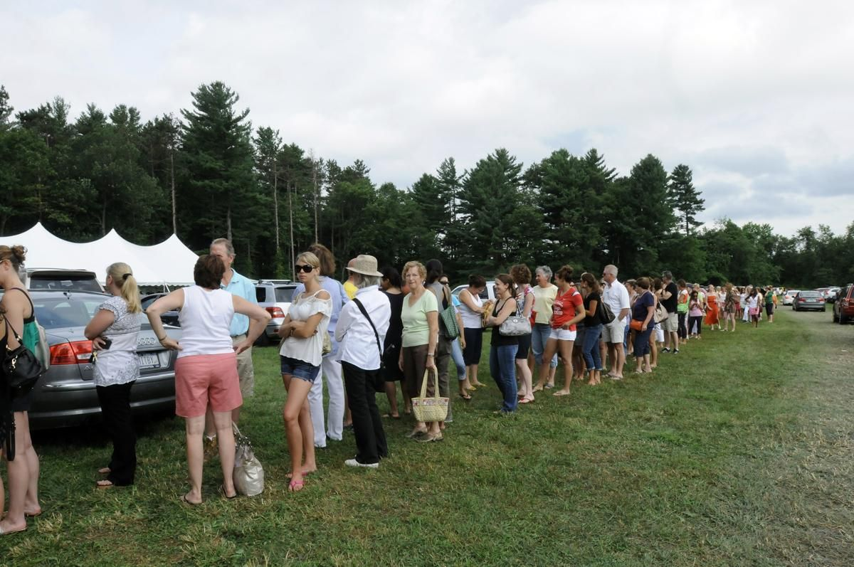 2cca514dfd0c2 Style-Savvy Women Descend on Manolo Blahnik Sample Shoe Sale at Arethusa  Farm in Litchfield (With Video) - Life - The Litchfield County Times
