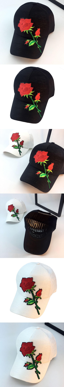 ae3ca7ffa0004 Beautiful cheap Unisex Applique Floral Baseball Cap Unisex Snapback Hip Hop  Flat Hat womens baseball caps