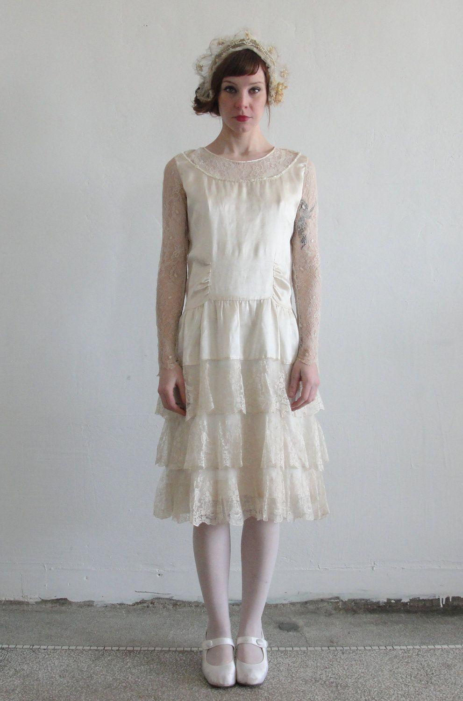 Flapper Style Wedding Dress - Women\'s Dresses for Weddings Check ...