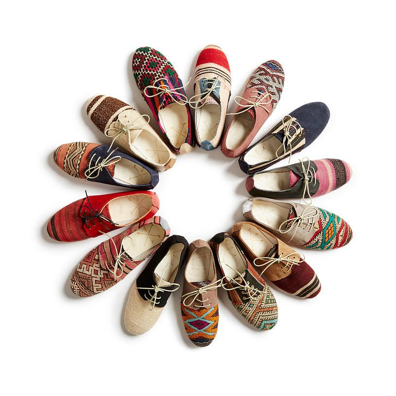 Tory Noll Oxfords made from Moroccan textiles