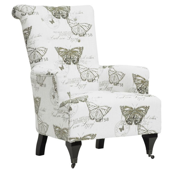 Exceptional Butterfly Print Chair