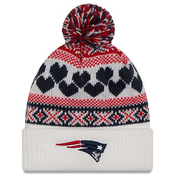 954710d69 Ladies New Era Winter Cutie Knit-White Patriots Game