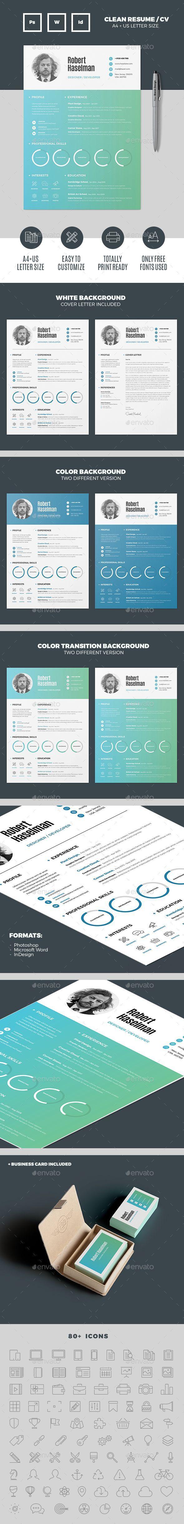 Resume — InDesign INDD #msword resume #cv template • Download ...