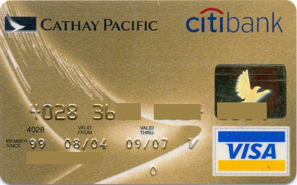 Cathay Pacific Visa Gold Hg Citibank Hong Kong Col Hk Vi 0016 Cathay Pacific Visa Gold Bank Card