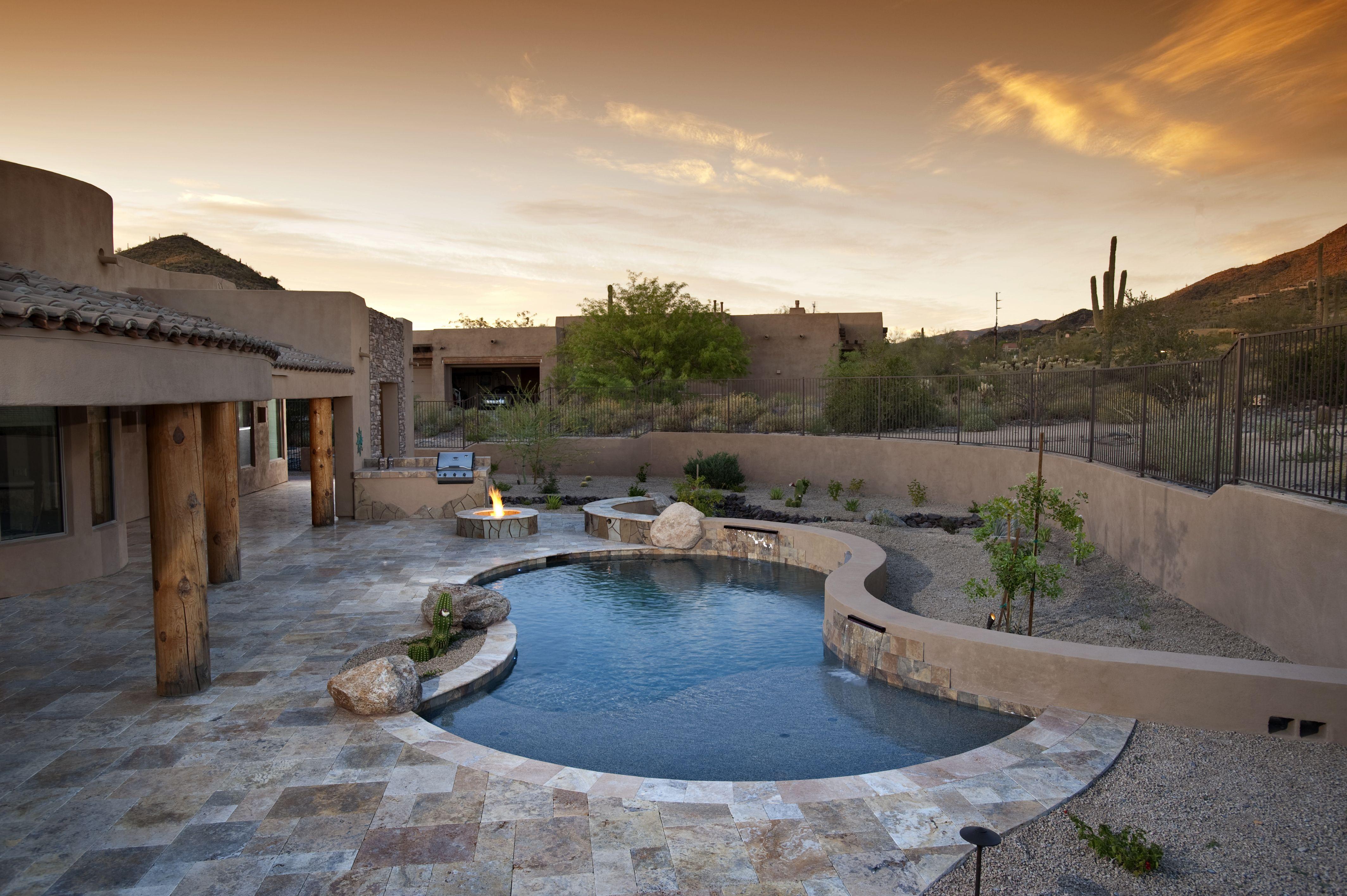 Furniture stunning indoor pool roof design on pool for Arizona home design