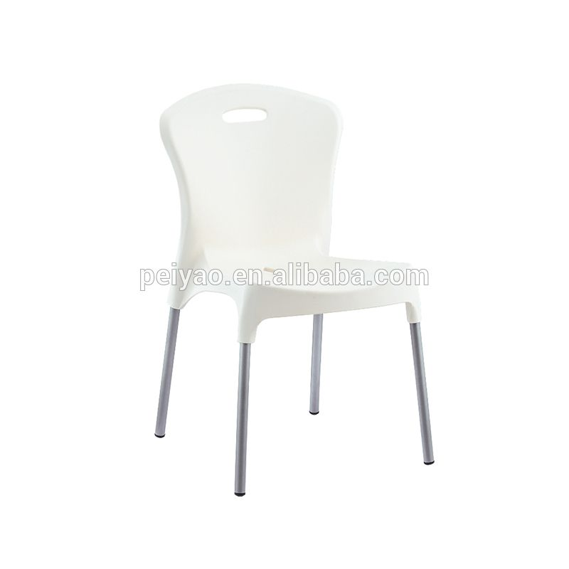 China Supplier Pp And Aluminum Legs White Plastic Chair For Sale White Plastic Chairs Chairs For Sale Plastic Chair