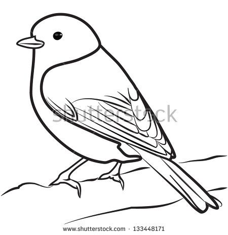 Sketch Of Sparrow Flying Coloring Pages With Images Bird Line