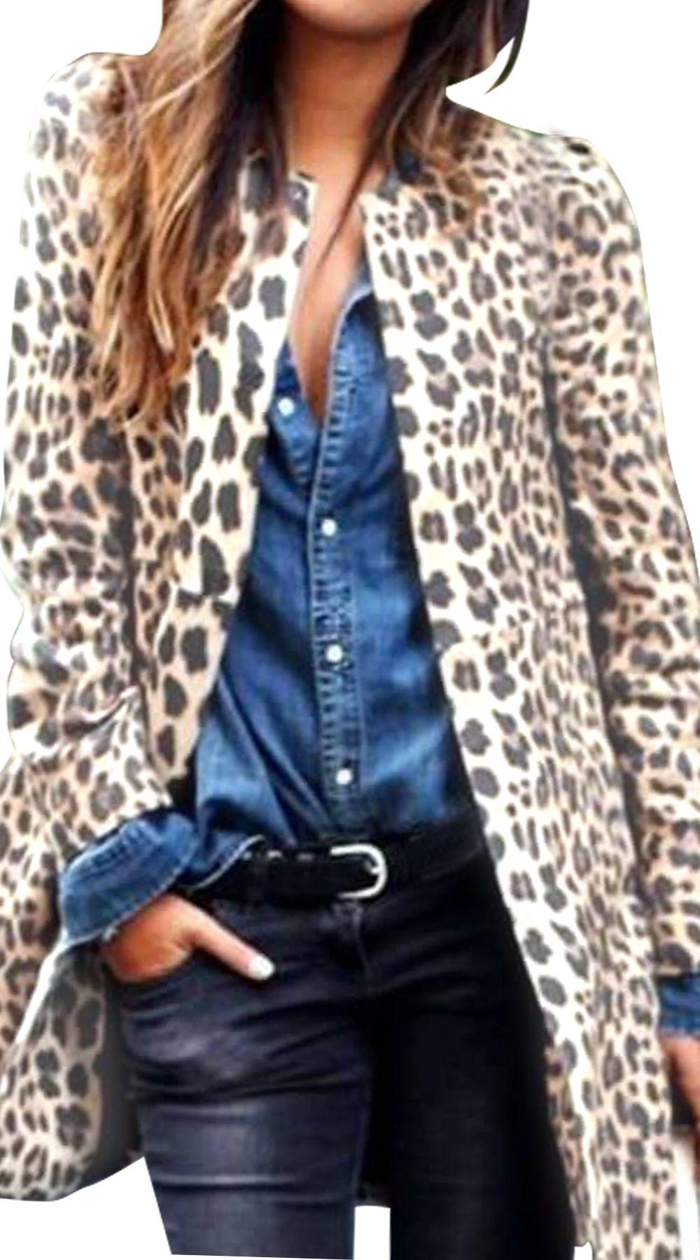 50ae2c30d630 Γυναικείο λεοπάρ ημίπαλτο με σουεντ υφήΜεγάλη ποικιλία από Ρούχα ...