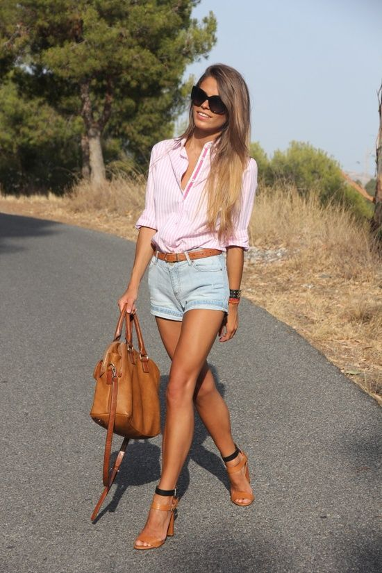 Nice Summer Fashion For Ladies Simple Short And Full Sleeve Pink Shirt... (click On Picture To ...