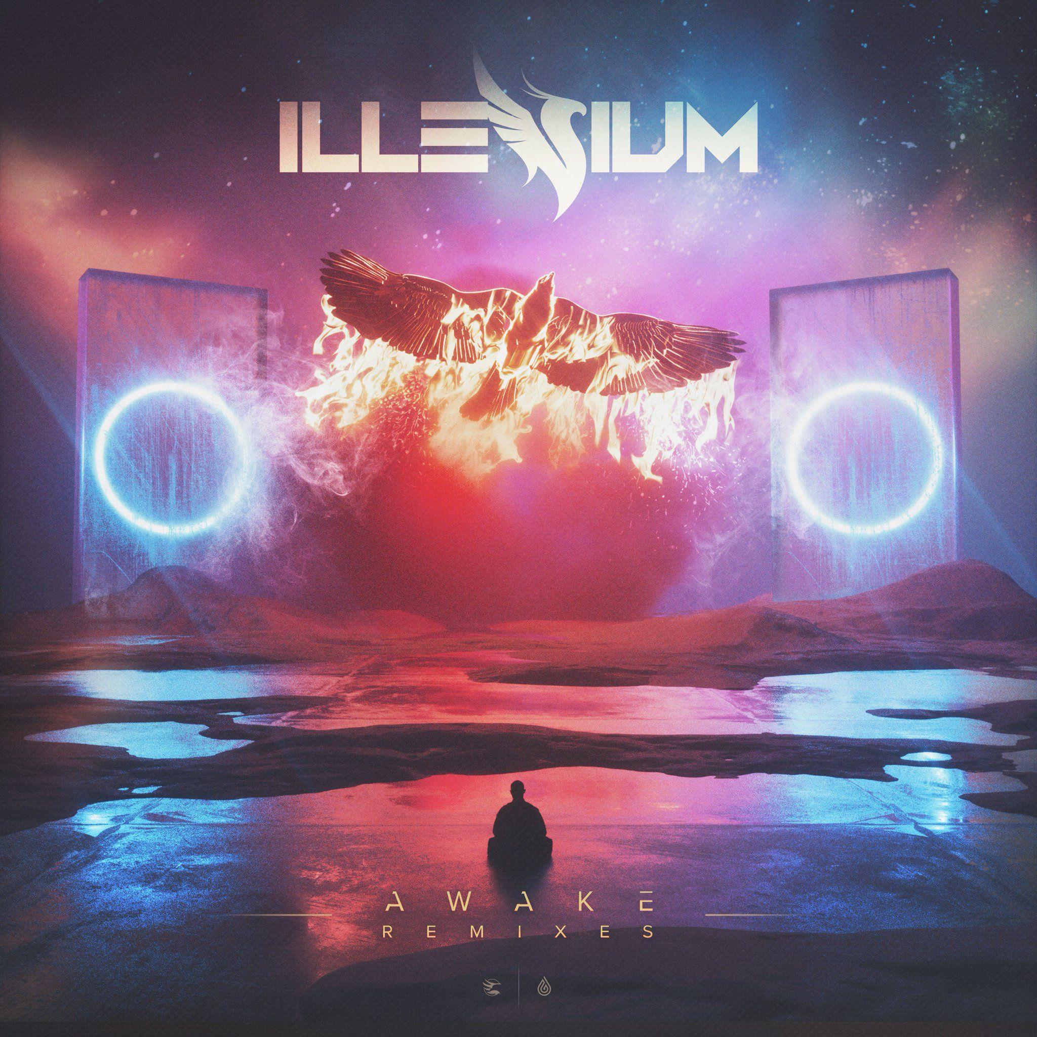 Illenium Jon Bellion: Cover Art For ILLENIUM - Awake (Remixes)