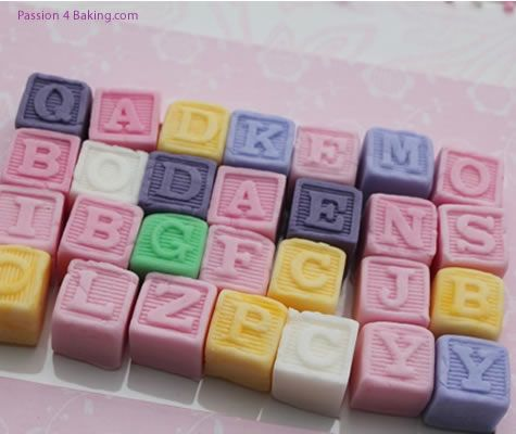 Cake Decorating Silicone Molds Uk : Alphabet Silicone Blocks First Impressions - Moulds and ...