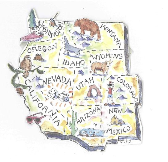 High Country News map of the 11 Western states drawn by Diane