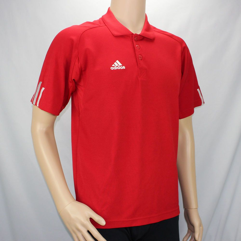 Polo Short Sleeve Silver Stripes Shirt Climacool Adidas Red Xs wI5qpOPnEx