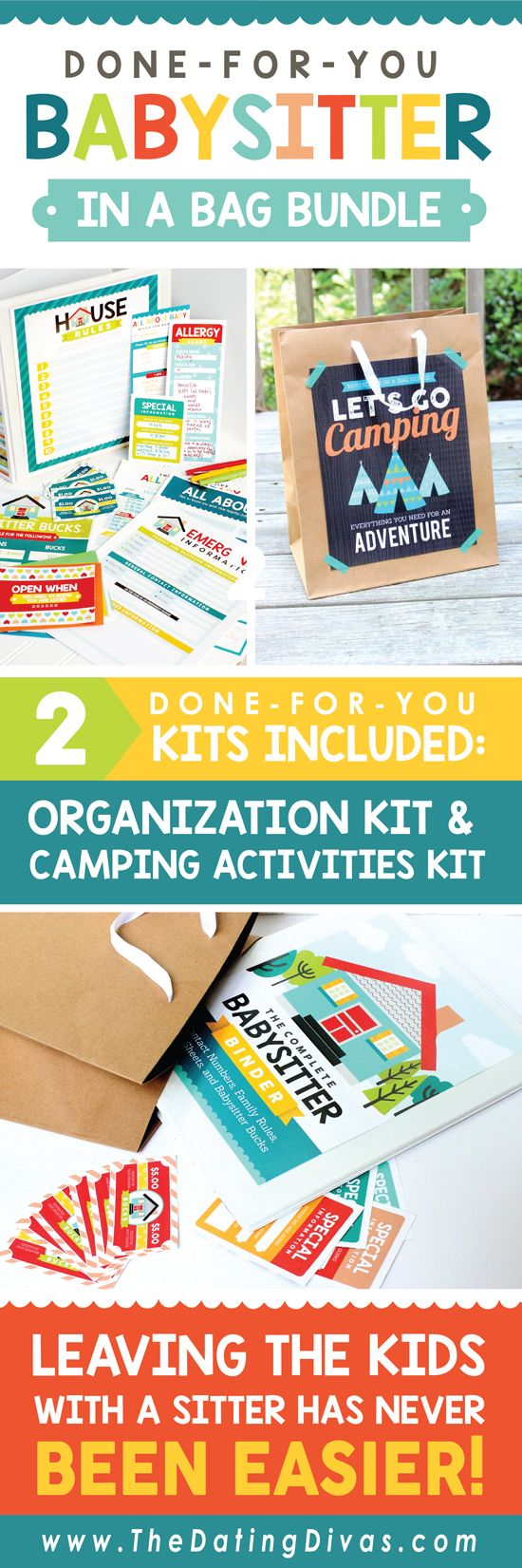 our babysitter activities for kids kits provide everything you need to communicate with your babysitter plus