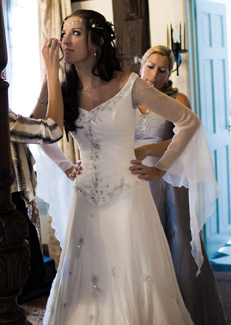 Celtic wedding dress  Evelyn by Rivendell Bridals  definitely a stunner  Wedding
