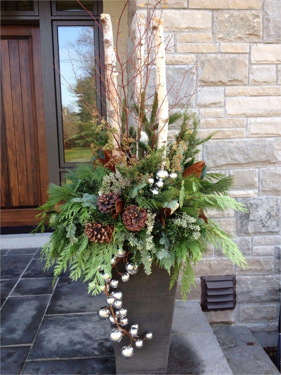 42 Beautiful Christmas Outdoor Pot Decorations Ideas 83 Christmas Outdoor Urn By Carla Mc Outdoor Christmas Planters Christmas Pots Front Porch Christmas Decor