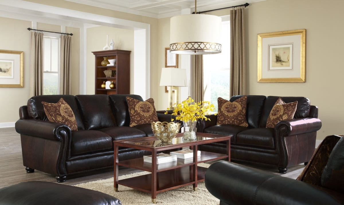 Simon Li Amarillo Walnut Leather Sofa Collection Leather Sofa And Loveseat Brown Couch Living Room Loveseat Living Room