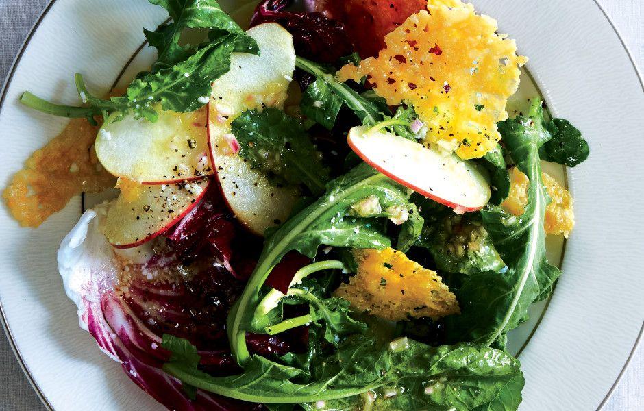 Radicchio and Apple Salad with Parmesan Crisps