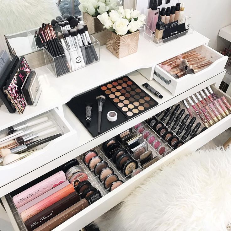Makeup Storage Ideas #makeup (Storage Ideas) #ideas #makeup #storage
