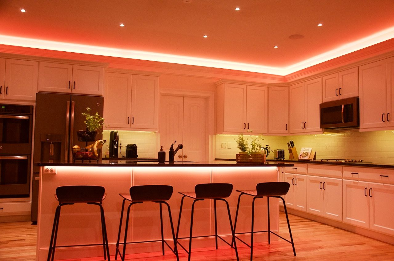 Atmospheric Lighting In Our Loxone Showhome In Media Pa More  # Deco Table Tele Plus Homecimema