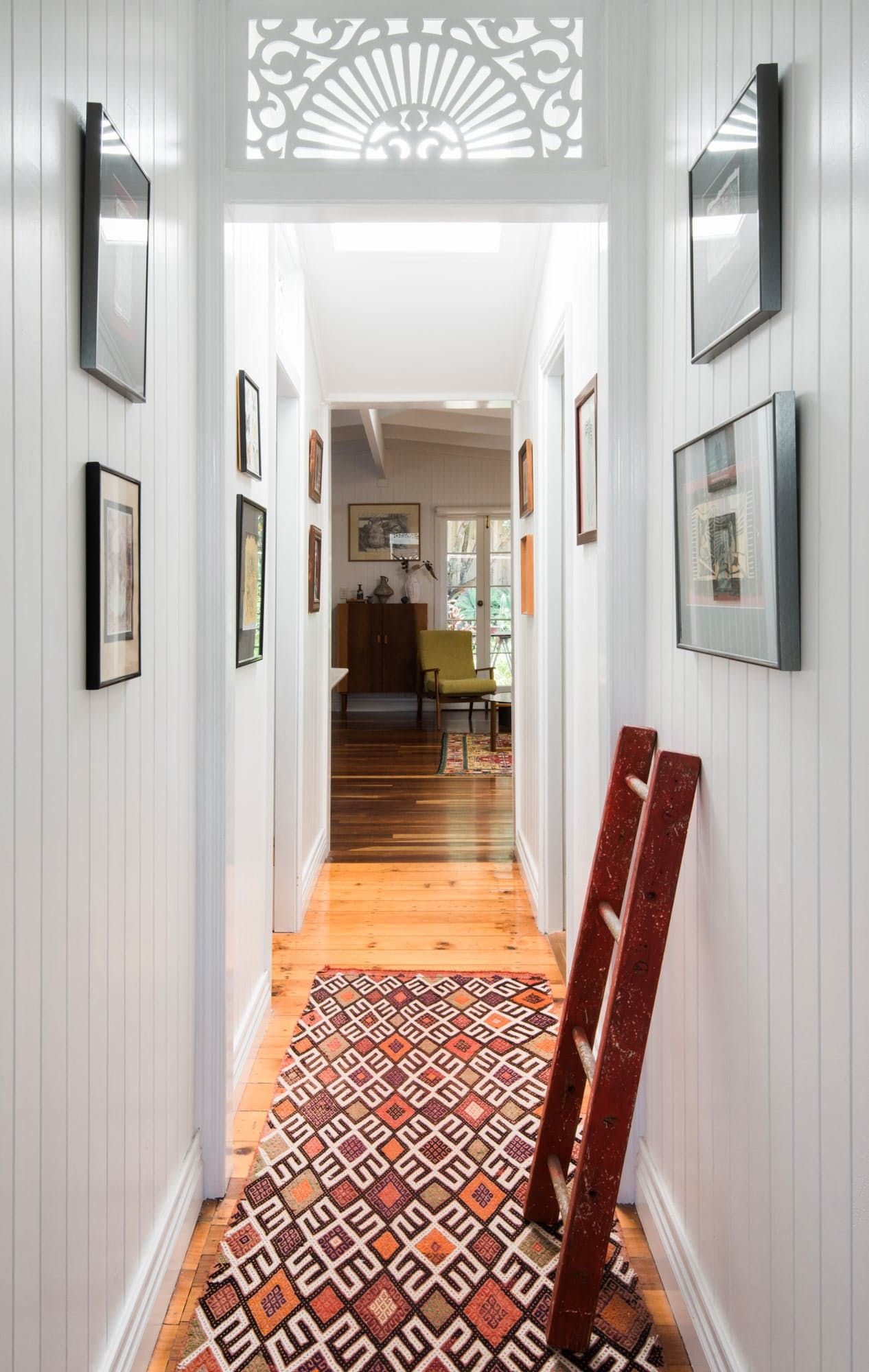 The Hallway Leads From The Front Door All The Way