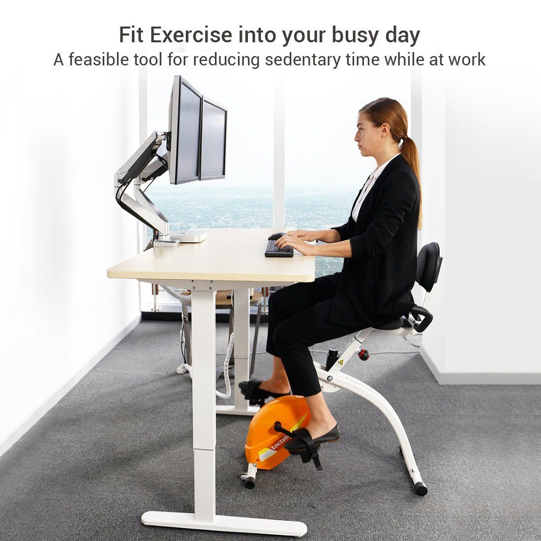Flexispot Offers Under Desk Bikes Deskside Bike And Desk Cycle Adding More Movements Into Your Day Biking Workout Foldable Exercise Bike Desk Workout