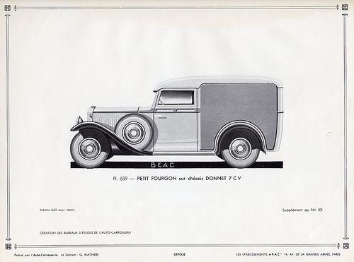 Donnet 7 CV Petit Fourgon, c. 1931