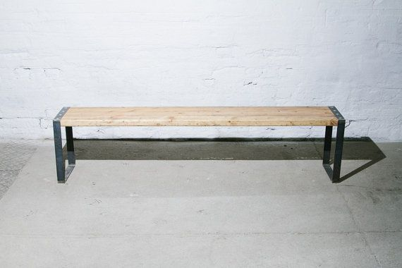 Bench Made Out Of Reclaimed Wood And Steel Bench Furniture Reclaimed Wood Wooden Bench