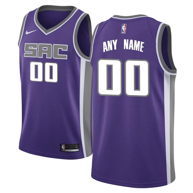 brand new 14cb3 9071d Sacramento Kings Nike Swingman Custom Jersey Purple - Icon ...
