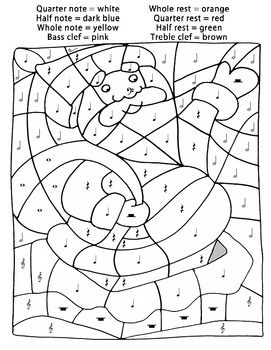 Color By Music Santa Claus Christmas Color By Number Christmas Coloring Pages Santa Coloring Pages