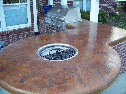 Rustic Finish Concrete Countertop For The Home