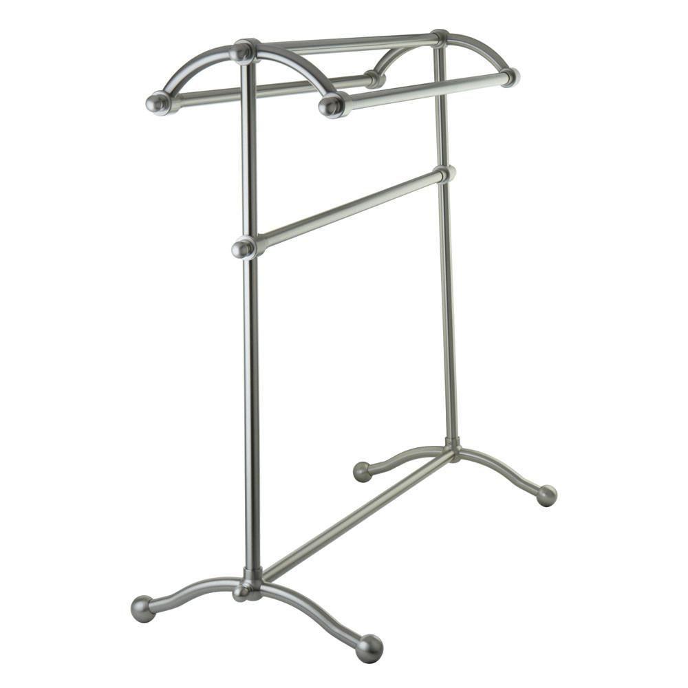 Allen Roth Brinkley Brushed Nickel Towel Rack Lowes Com Metal Towel Racks Towel Rack Hand Towel Stand